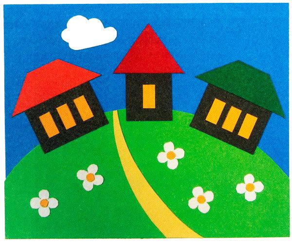 Поделки из цветной бумаги для детей 4-5 лет