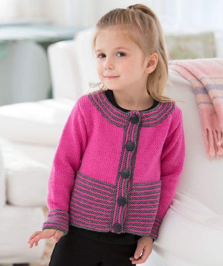 Кардиган для девочки 4 года вязание на спицах 955