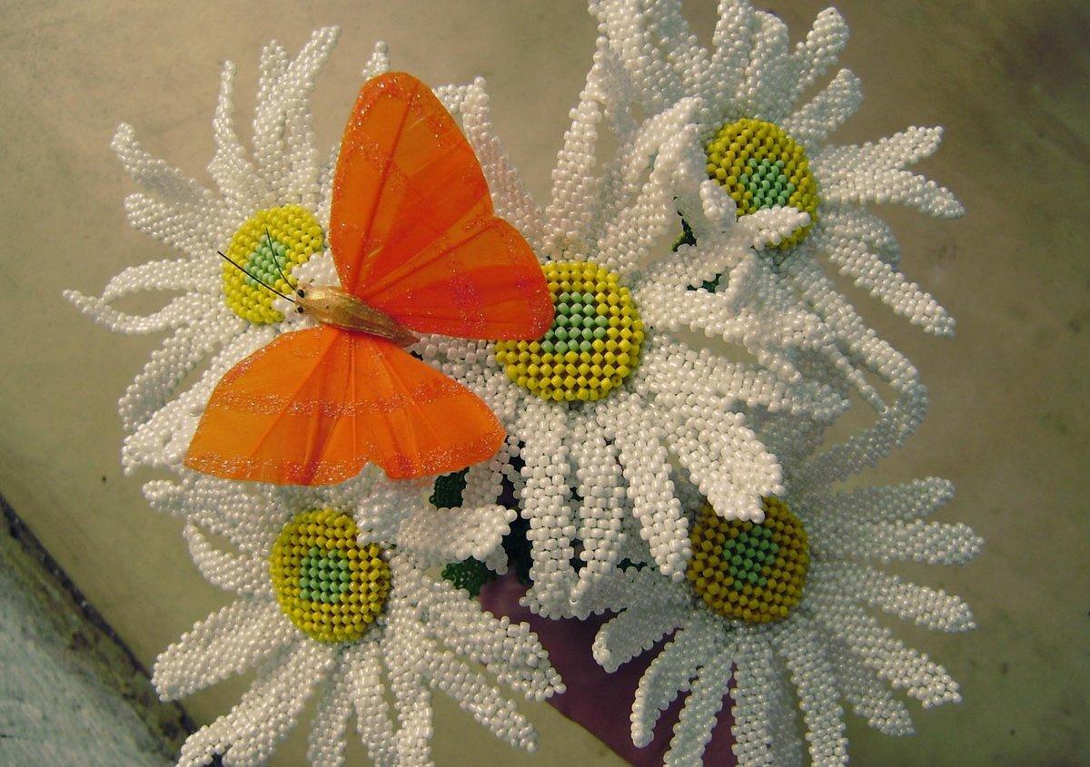Цветы мозаичное плетение из бисера мастер класс с пошаговым