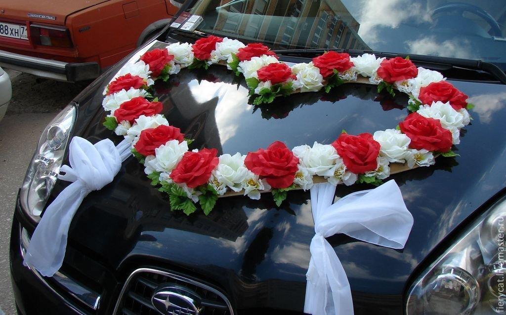 Украшения из цветов на свадебную машину своими руками мастер класс 89