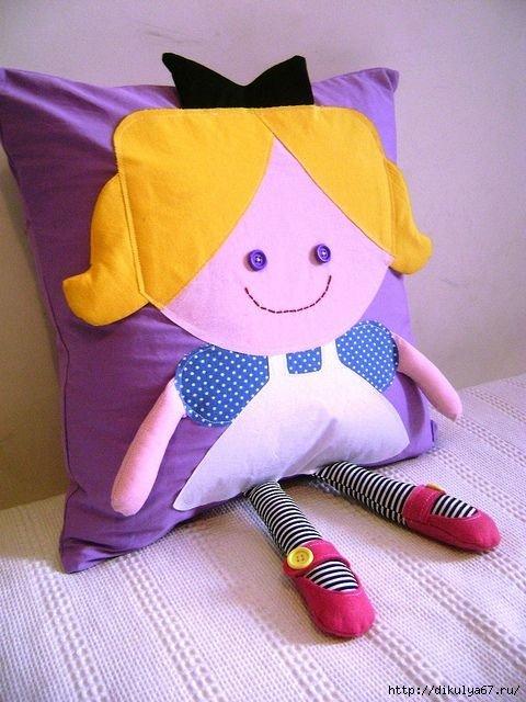 Подушка мальчик своими руками