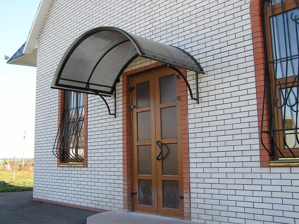 Сварить козырек над дверью