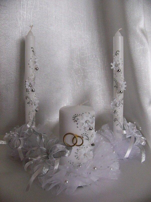 Украшение свадебных свеч своими руками 393