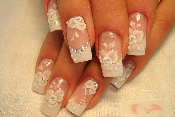 Фото ногтей с рисунками свадебный