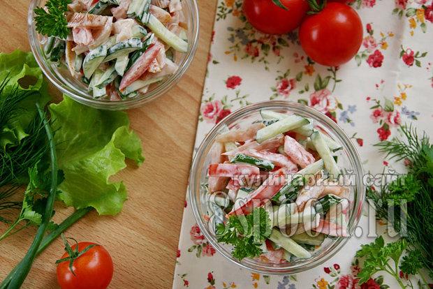 Салат из копченой курицы простыеы
