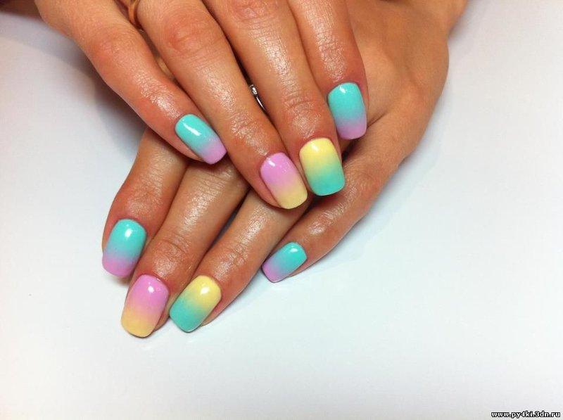 Дизайн ногтей гелевого покрытия