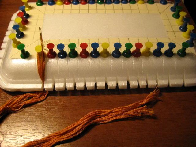 Вышивка органайзер для ниток