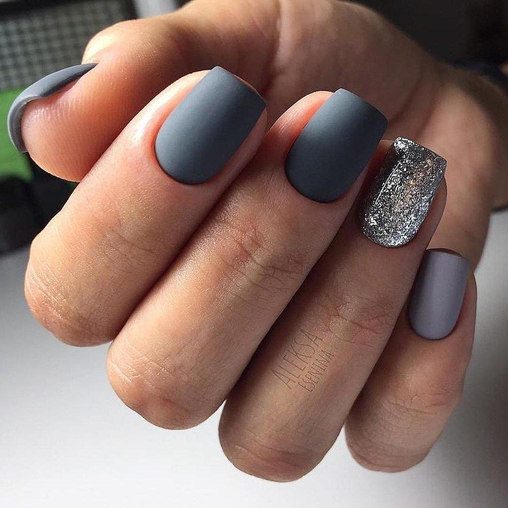 Квадратные Ногти Шеллак Фото