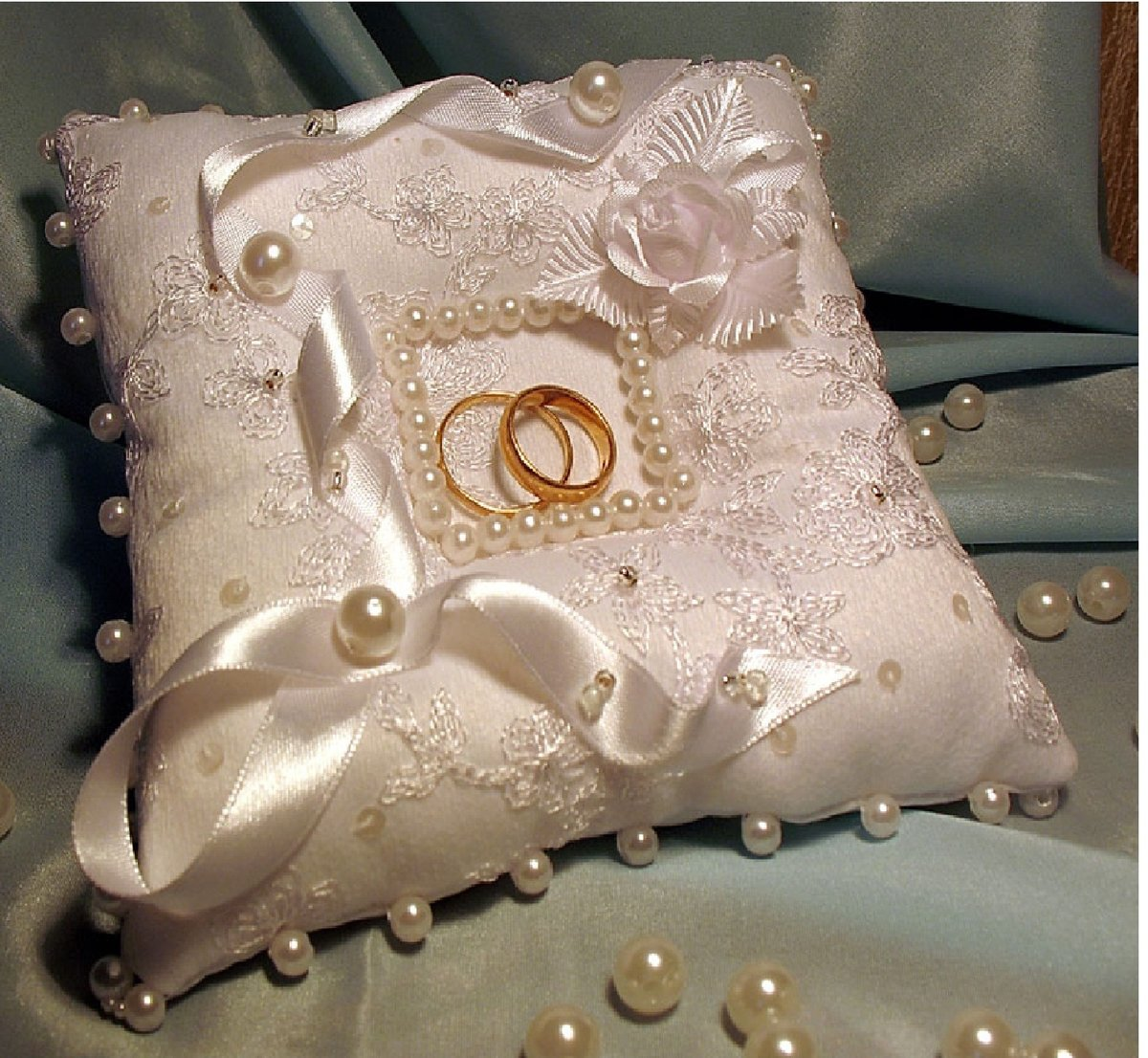 Свадебная подушечка для колец с углублением своими руками 24