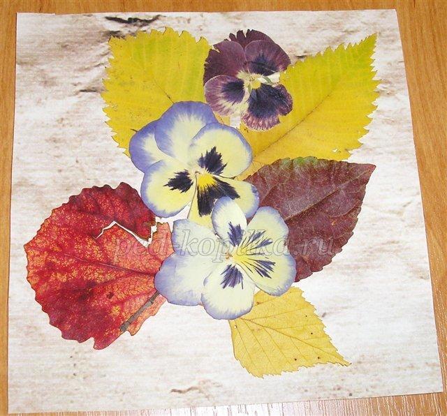 Картины из осенних цветов своими руками 94