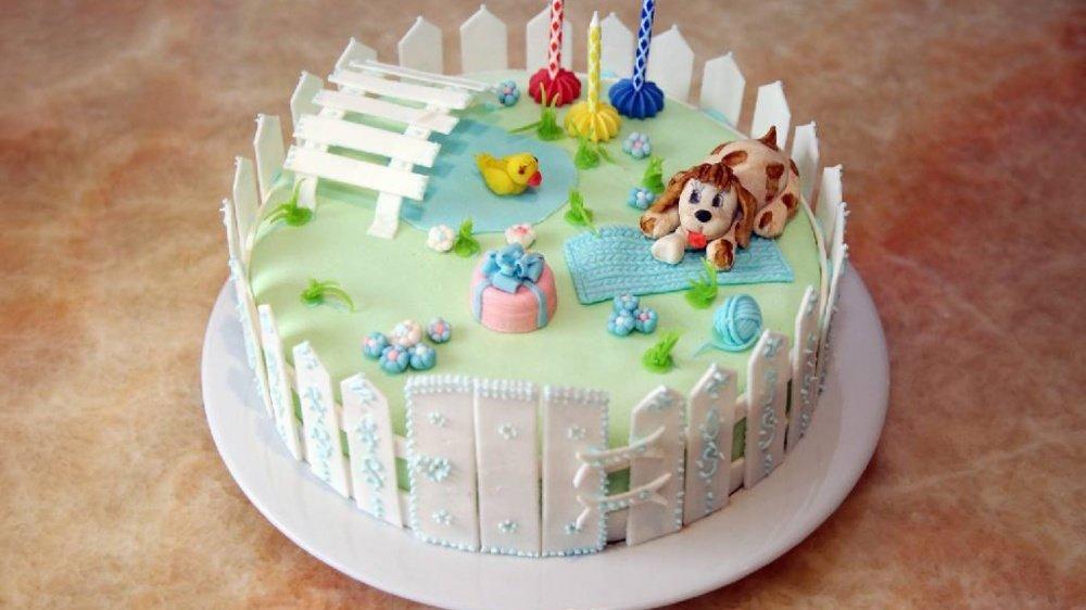 Детский торт из мастики для мальчика своими руками фото рецепт 71
