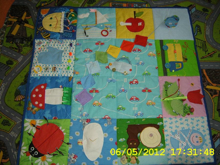 Развивающий коврик для новорожденного своими руками 26