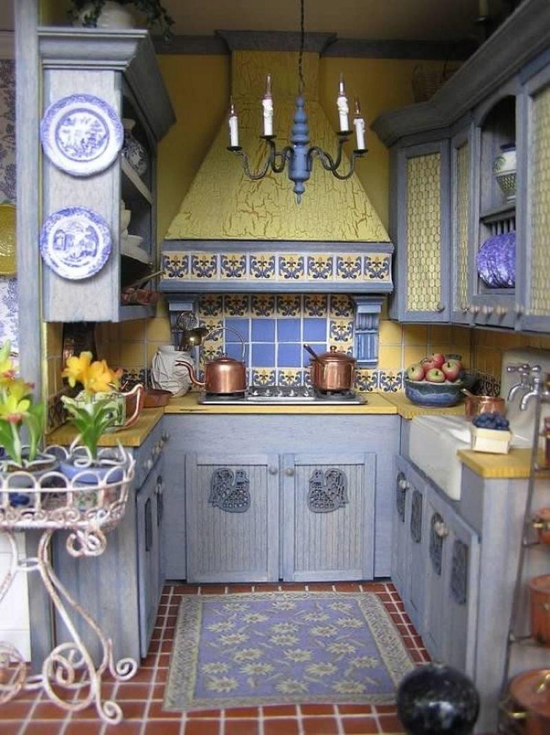 Стильное оформление маленькой кухни своими руками