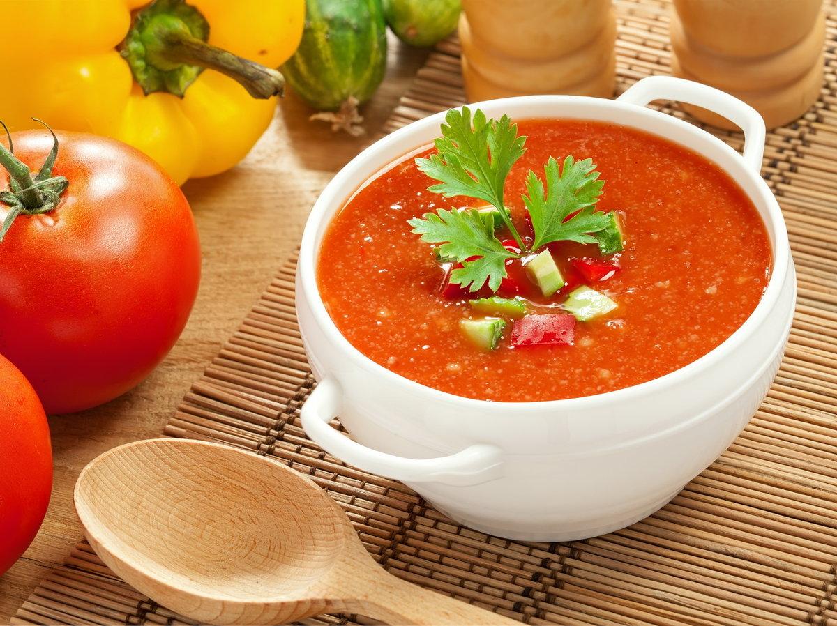 Суп из томатов гаспачо пошаговый рецепт с фото
