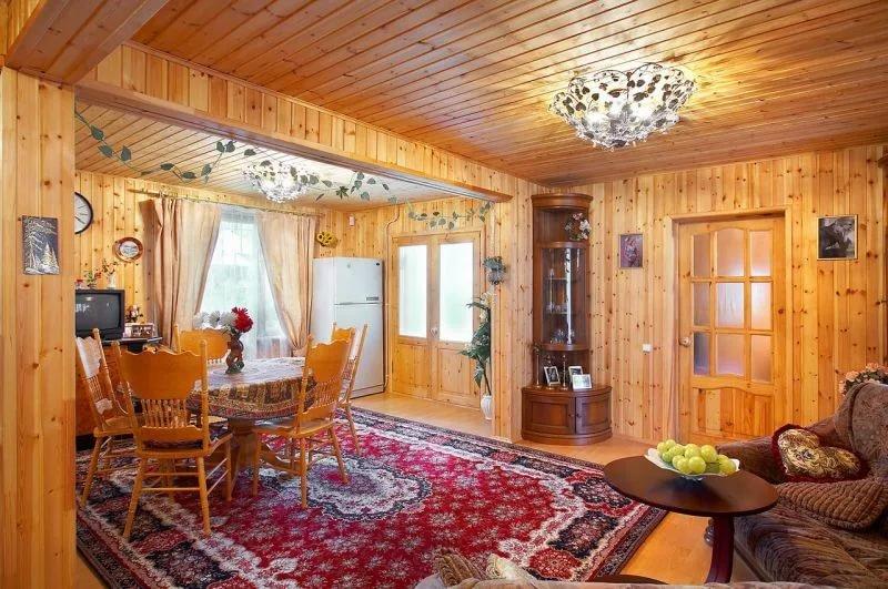 Как сделать обои в деревянный дом 962