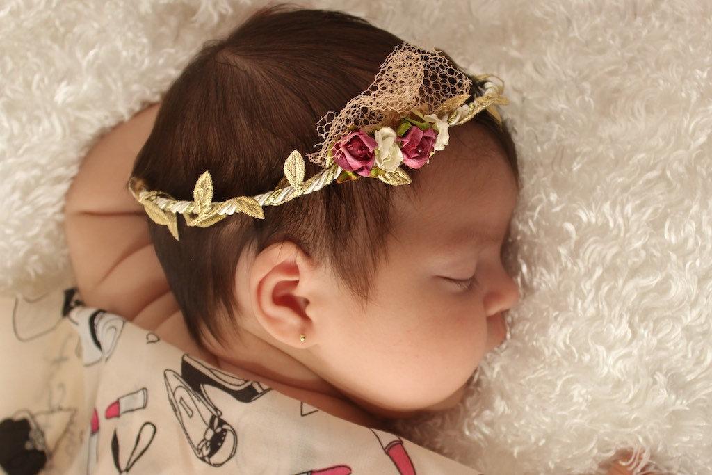 Повязки на голову с цветами для девочки своими руками 775