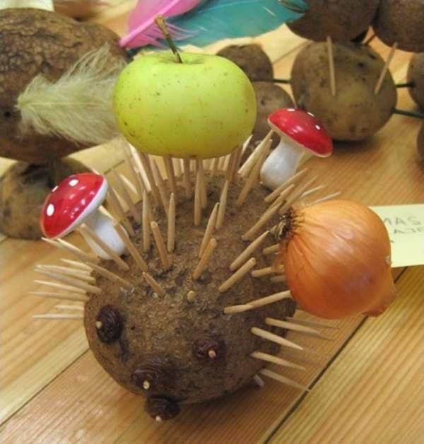 Поделка для детского сада из овощей фото 61