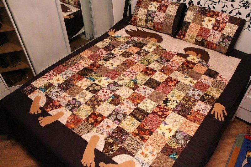 Лоскутное шитье одеяло своими руками 40