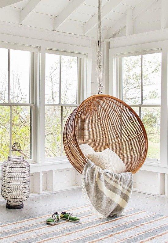 Подвесное кресло в интерьере фото