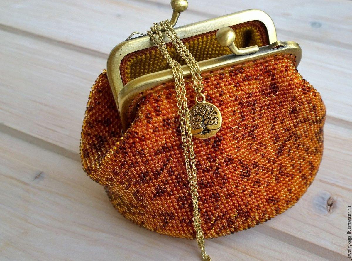 Вязание бисером кошелек с фермуаром 95