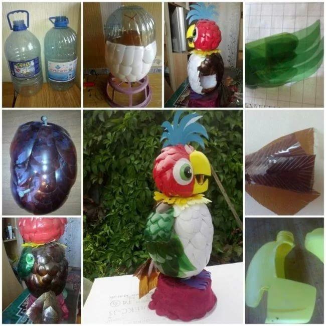 Поделки из бутылок для детей фото