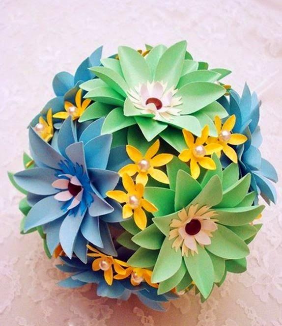 Поделки из бумажных цветов своими руками фото