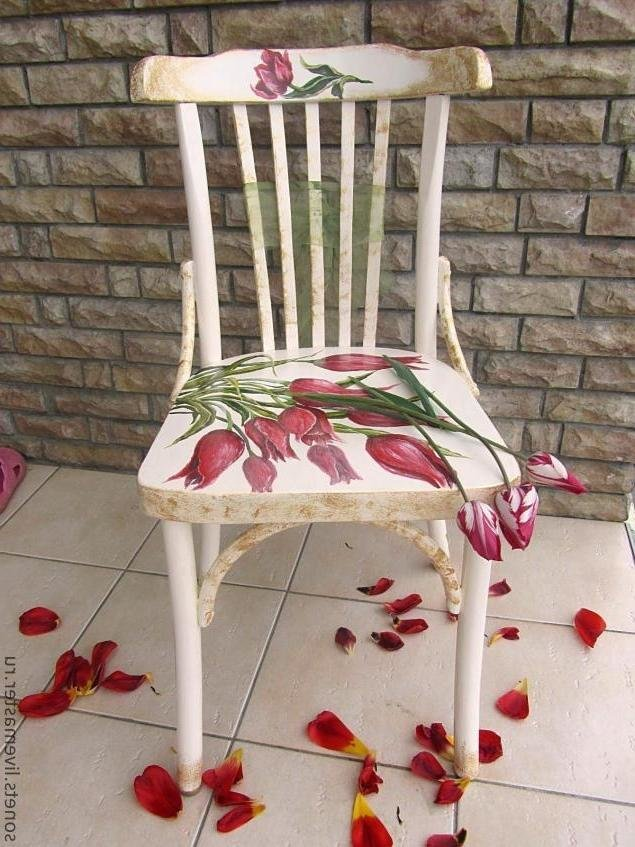 Как из старого стула сделать стул в стиле прованс