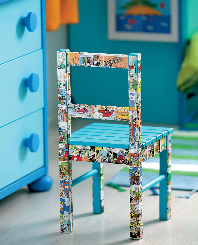 Рисунки на стульях своими руками