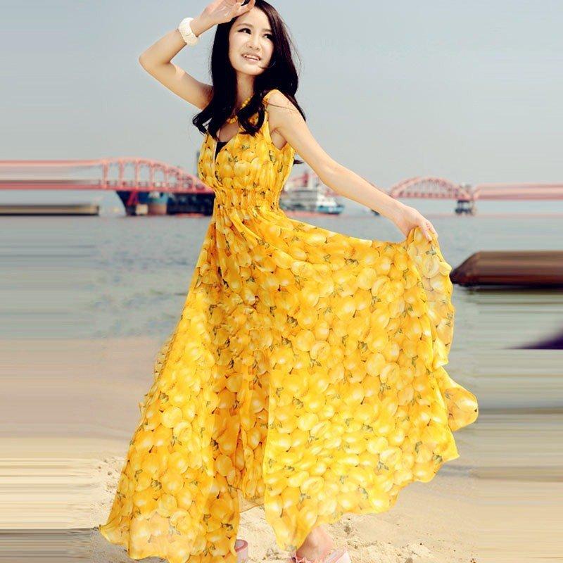 Желтое платье своими руками