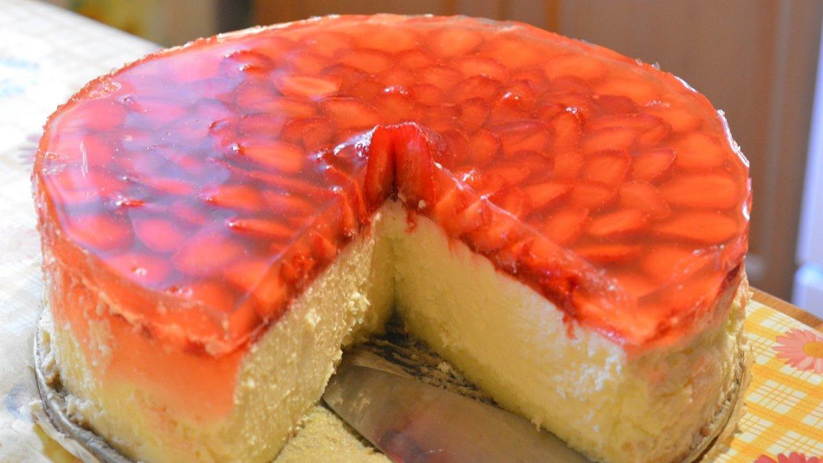 Чизкейк без выпечки с фруктами - пошаговый рецепт с фото на Повар. ру 866