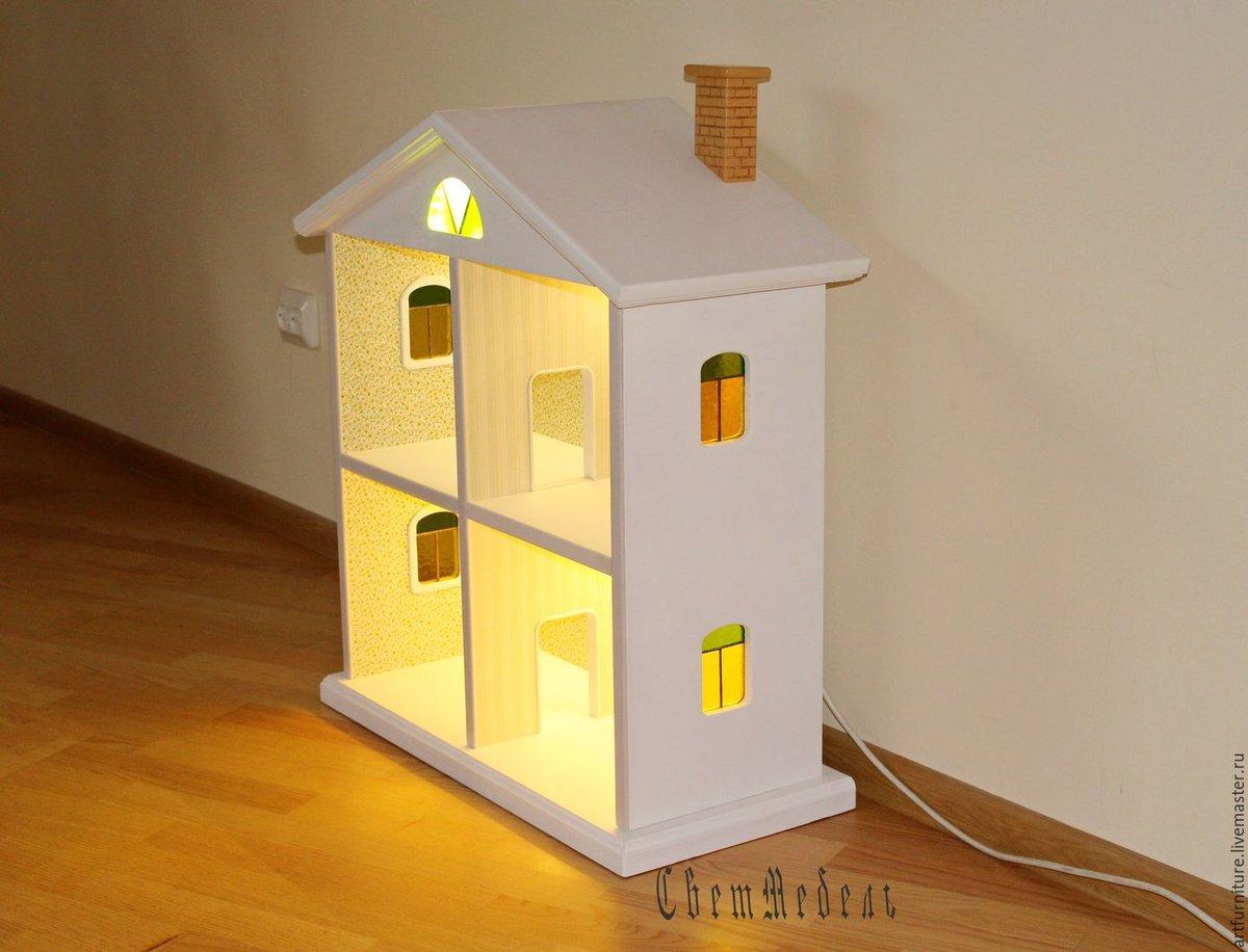 Кукольный дом из дерева с гаражом своими руками фото