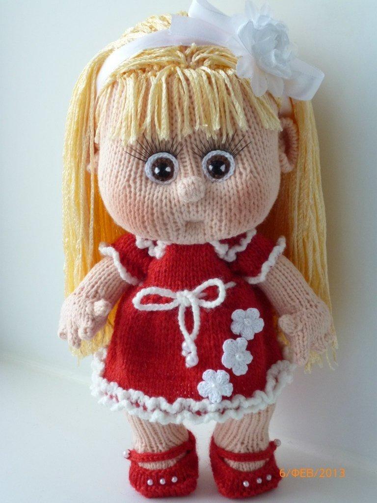 Как связать куклу своими руками спицами 24