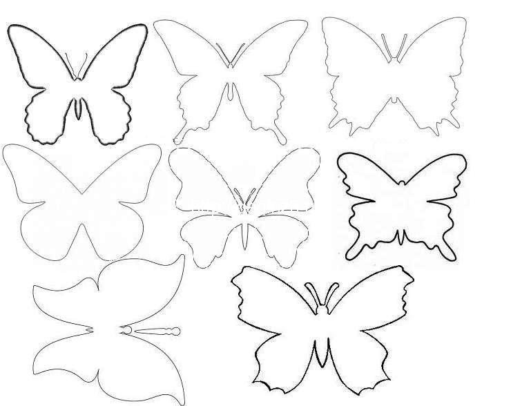 Декор стен бабочками своими руками трафарет 29