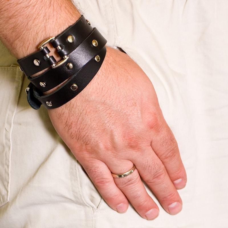Кожаный браслет для женщин своими руками 623