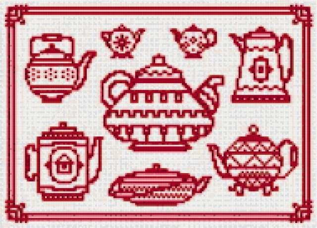 Монохром для кухни схемы для вышивки