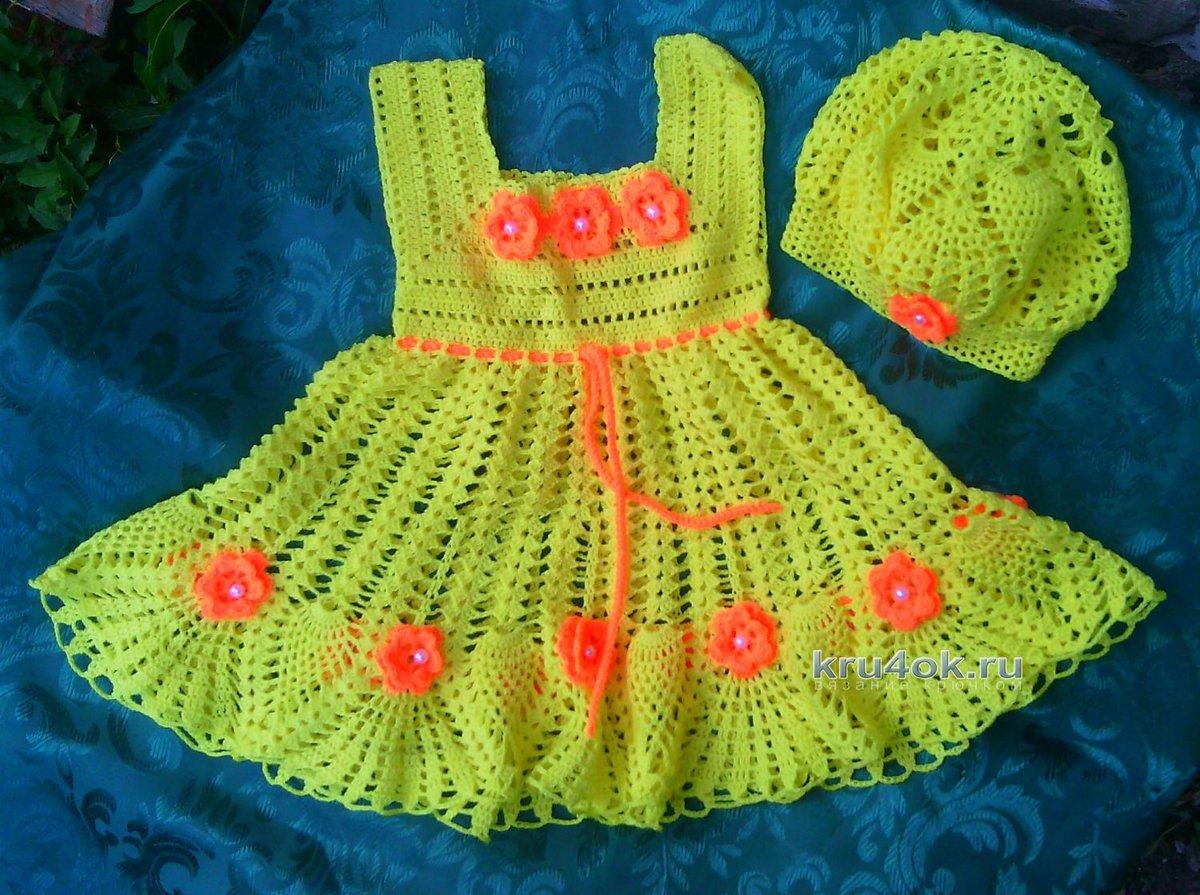 Поиск на Постиле: Платье спицами для девочки 91