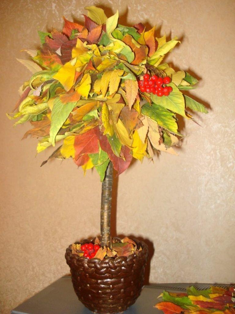 Поделка дерево осень руками пошагово 3