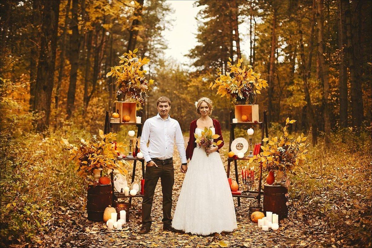 Стили свадьбы осенью фото