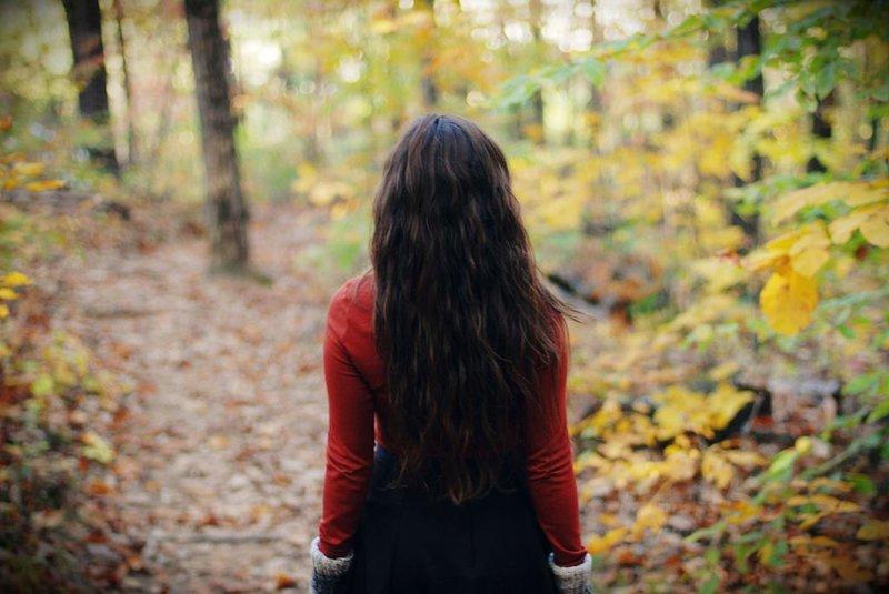 брюнетки фото на аву осень