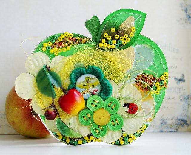 Зеленое яблоко поделка