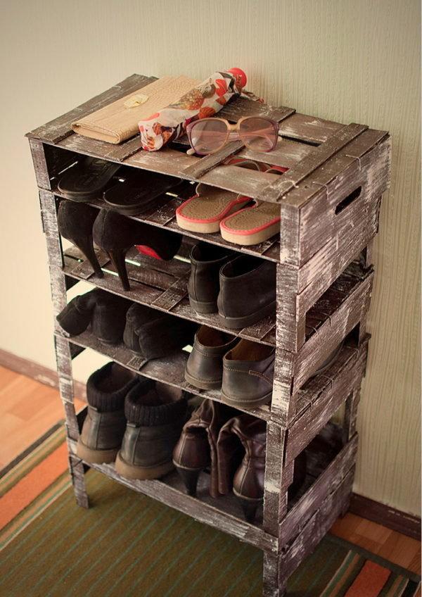 Подставка для обуви своими руками из коробок 11