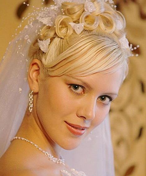 Прически для невест для средних волос