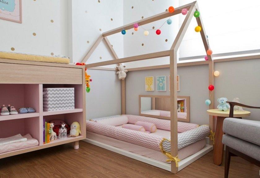 Детская кровать домик для девочки своими руками 75