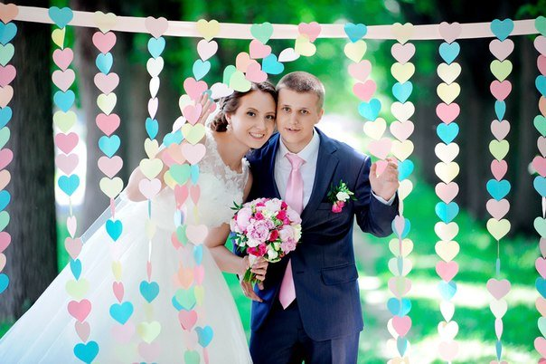 Гирлянда сердечки для свадьбы своими руками