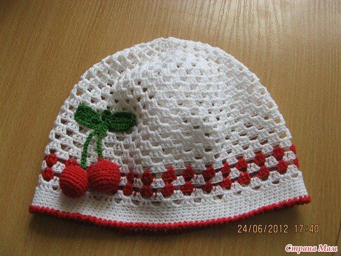 Вязание крючком шапочек для лета детям до  40