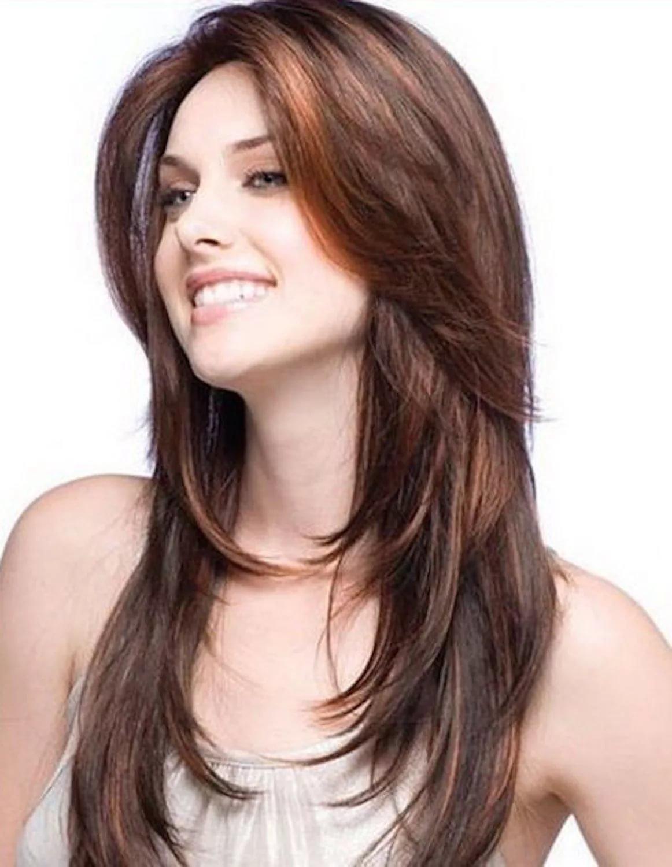 Стрижка каскад для прямых волос Стрижка каскад на длинные волосы