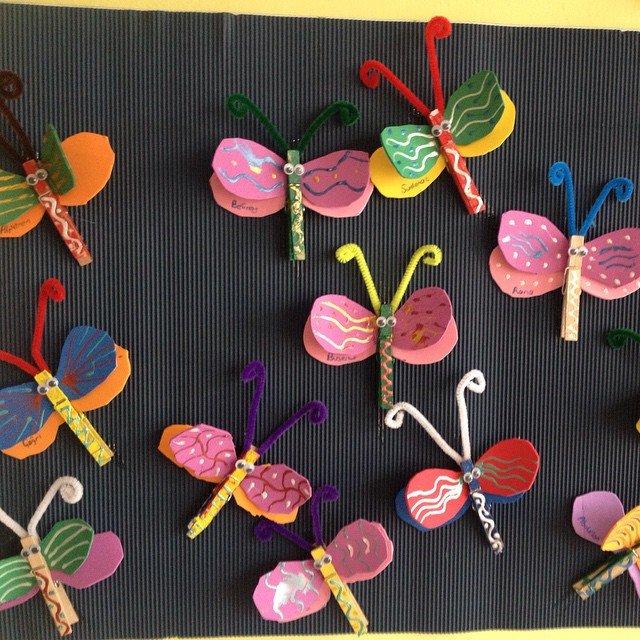 Поделка бабочка своими руками для детского сада 553