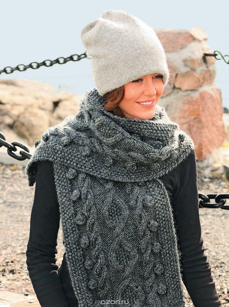 Вязание красивые женские шарфы 66