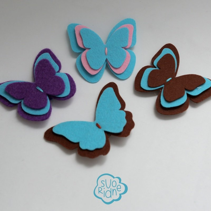 Шаблон бабочки из фетра своими руками 26