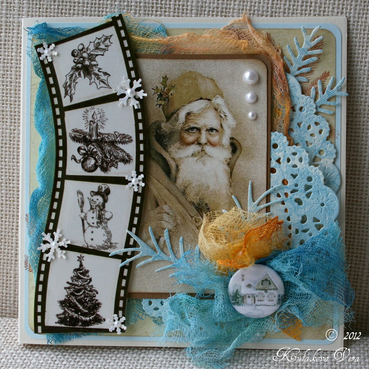 Скрапбукинг открытки новогодние своими руками